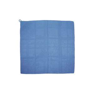 (まとめ) カラースカーフ 700×700mm ポリエステル製 ループ付き ブルー(青) 【×30セット】 青