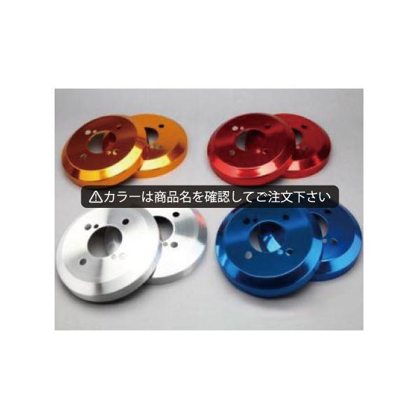 ムーヴ/ムーヴ カスタム LA110(4WD専用) アルミ ハブ/ドラムカバー リアのみ カラー:鏡面レッド シルクロード DCD-004 赤