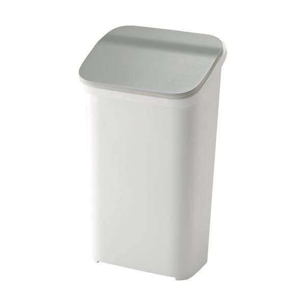 【6セット】 シンプル ダストボックス/ゴミ箱 【メタル 19L】 プッシュ 『スムース』
