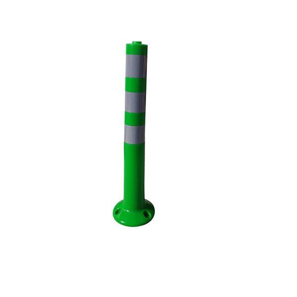 【5本セット】 PVC製視線誘導標/ソフトコーンH 【緑色】 高さ750mm 専用固定アンカーセット【代引不可】