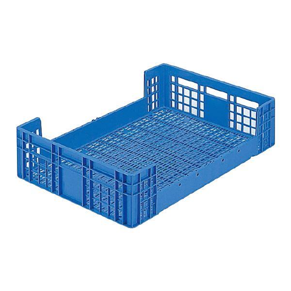 (業務用5個セット)三甲(サンコー) 全面網目コンテナボックス/サンテナー 【Dタイプ】 オープン形状 D120 ブルー(青) 【代引不可】