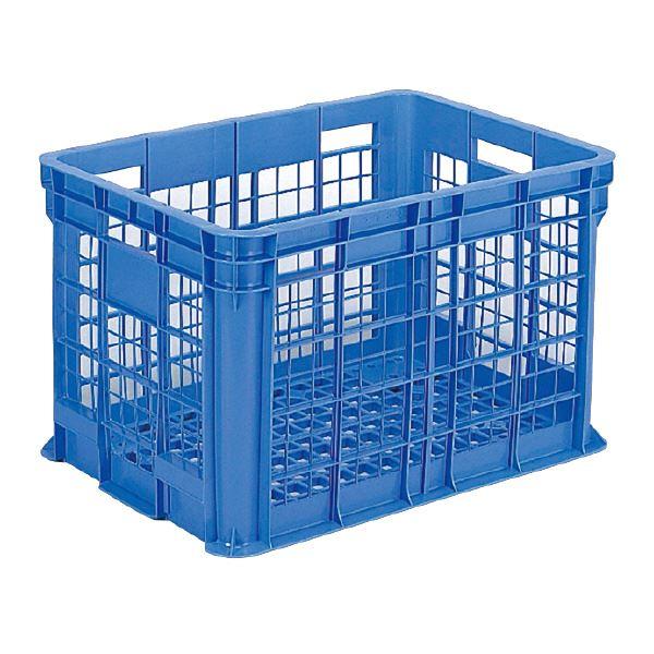 (業務用3個セット)三甲(サンコー) 全面網目コンテナボックス/サンテナー スタッキング可 B300 ブルー(青) 【代引不可】