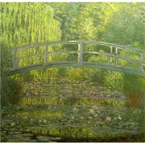 世界の名画シリーズ、プリハード複製画 クロード・モネ作 「睡蓮・緑のハーモニー」