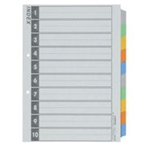 (業務用5セット) ジョインテックス インデックスA4S 5色10山 50組 D026J-10Y10