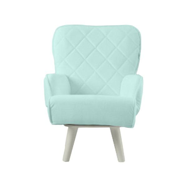 Liloudecoco リルデココ 回転ローチェアー(ポケット付)ミント 姫系 キルティング 椅子 一人掛け ソファー 高座椅子