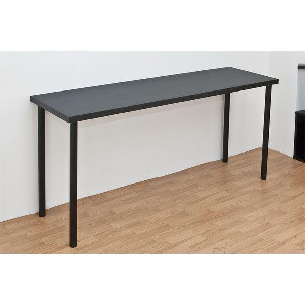 フリーテーブル 机 (作業台/PC パソコン デスク (テーブル 机) /書斎テーブル ) 幅150cm×奥行45cm ブラック(黒) 天板厚3cm 黒