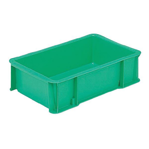 (業務用10個セット)三甲(サンコー) ベタ目コンテナボックス/テンバコ 12 グリーン(緑) 緑