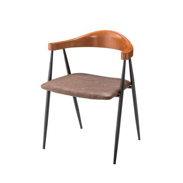 (2脚セット) アームチェア (イス 椅子) TEC-63