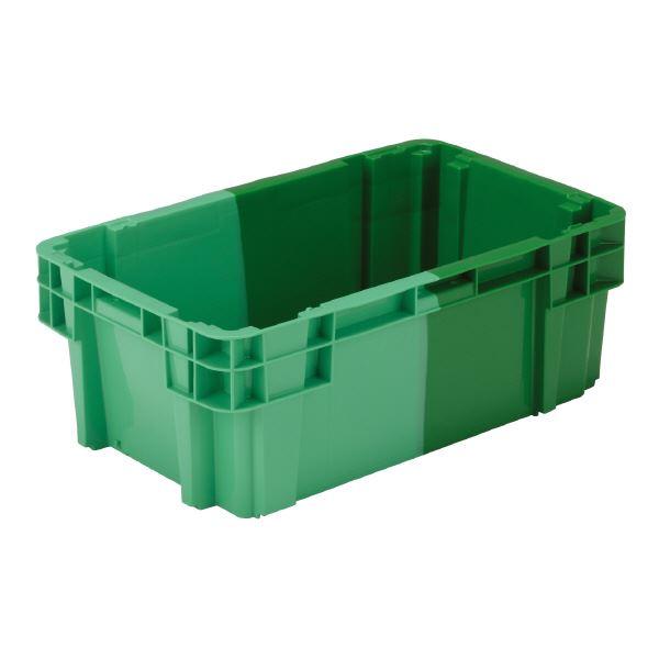(業務用10個セット)三甲(サンコー) SNコンテナ/2色コンテナボックス 【Bタイプ】 #37AS グリーン×グリーン 緑
