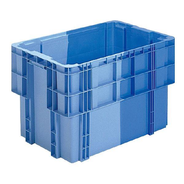 三甲(サンコー) SNコンテナ/2色コンテナボックス 【Bタイプ】 ベタ目 スタッキング可 #161 ブルー×ライトブルー【代引不可】