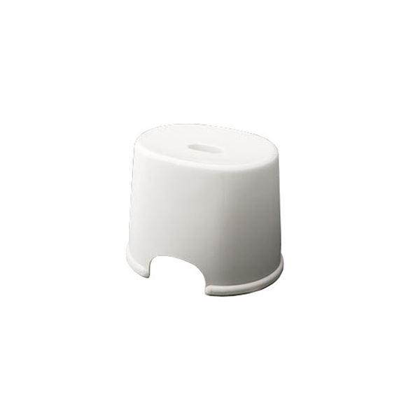【20セット】 シンプル バスチェア/風呂椅子 【250 ホワイト】 すべり止め付き 材質:PP 『HOME&HOME』【代引不可】