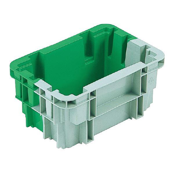 (業務用20個セット)三甲(サンコー) SNコンテナ/2色コンテナボックス 【Bタイプ】 #4A グリーン×グリーン 【代引不可】