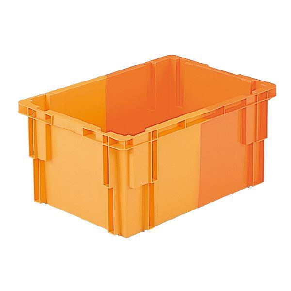 (業務用10個セット)三甲(サンコー) SNコンテナ/2色コンテナボックス 【Bタイプ】 #38 オレンジ×オレンジ 【代引不可】