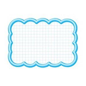 (業務用100セット) タカ印 抜型カード 16-4197 雲形大 ブルー 青