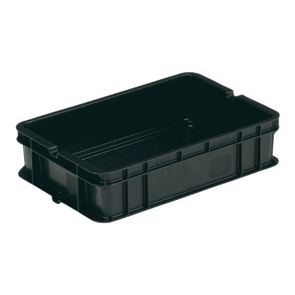 (業務用20個セット)三甲(サンコー) ベタ目コンテナボックス/サンボックス 導電性PP 5-4 ブラック(黒) 【代引不可】