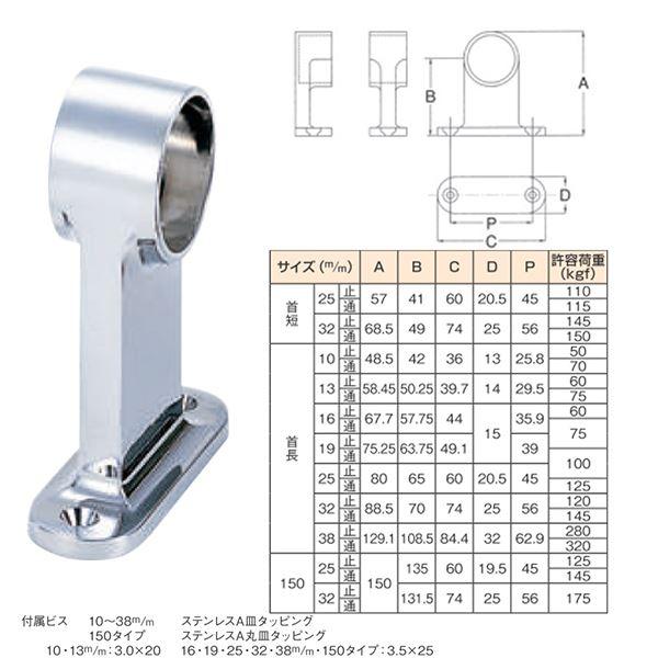 【20個入り】 F型首長ブラケット/パイプ取付け用金具 【高さ80mm/通 25mm】 水上金属