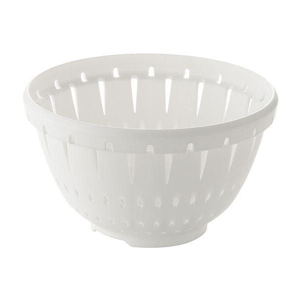 【100セット】 コランダー/水切りざる 【Sサイズ ホワイト】 材質:PP 『リベラリスタ』 白