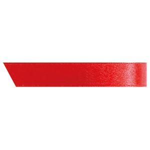 (まとめ) ヘッズ 片面サテンリボン 幅10mm×30m レッド 1001R 1巻 【×15セット】 赤