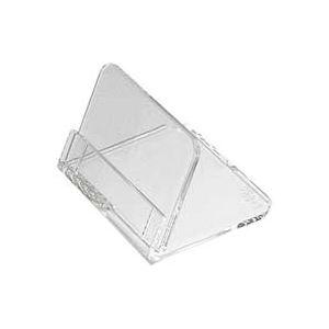 (業務用100セット) 共栄プラスチック メタクリル豆カード立(大)5個入 L-50-5