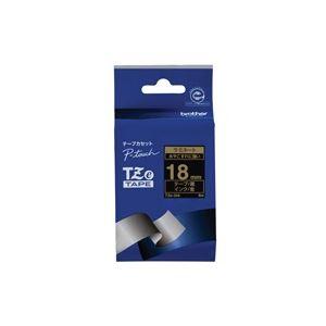 (業務用30セット) brother ブラザー工業 文字テープ/ラベルプリンター用テープ 【幅:18mm】 TZe-344 黒に金文字