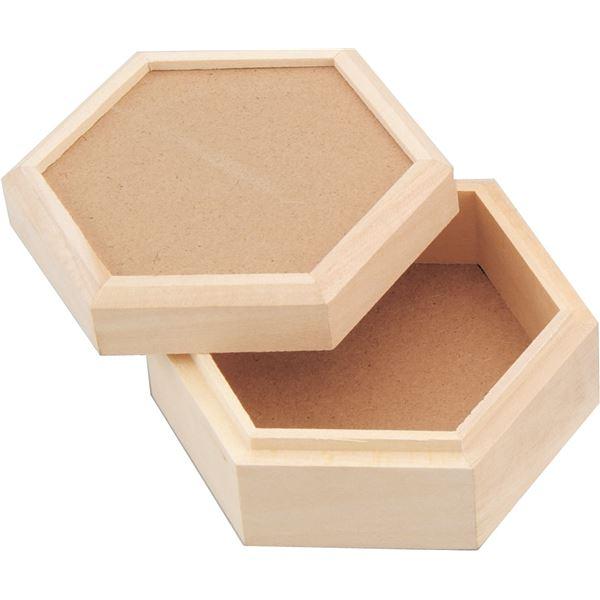 (まとめ) マルチボックス六角箱 【×15セット】