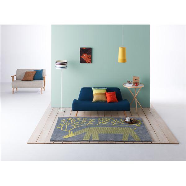 ラグマット じゅうたん カーペット 敷き物 /絨毯 【トナカイノキ 140cm×200cm グレー】 長方形 日本製 国産 床暖房可 防ダニ Masaru Suzuki Design 『NEXTHOME』