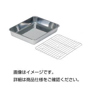(まとめ)ステンレス浅型バット用網12枚取【×10セット】