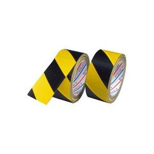 (業務用60セット) ダイヤテックス 安全標示テープ トラ50mm×25m TT-06-YB