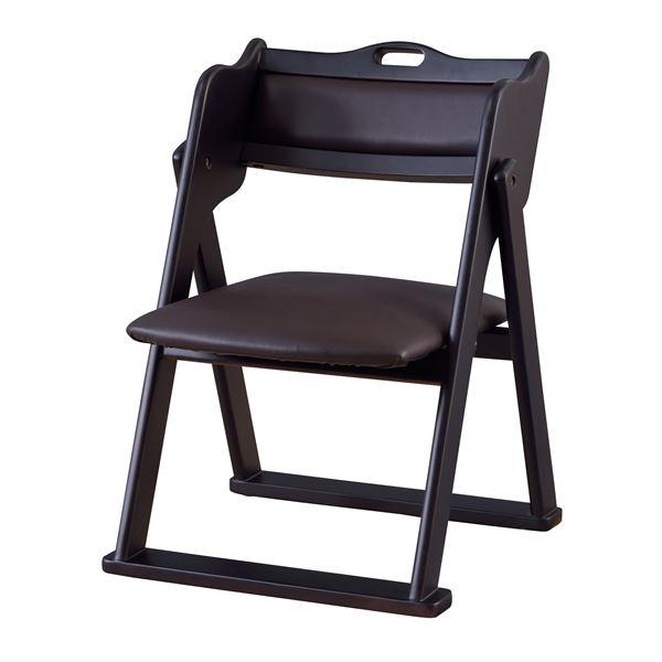 【仏事・法事・仏具・冠婚葬祭】 お座敷チェア (イス 椅子) フォールディングチェア ブラック BC-510BK 黒