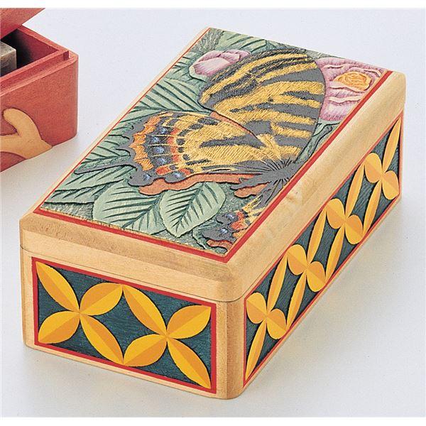 (まとめ) 木彫印かん小箱(印泥付) 【×10セット】