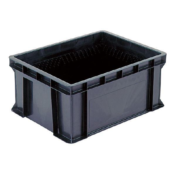(業務用5個セット)三甲(サンコー) 導電性コンテナボックス/テンバコ 【60.3L】 段積み可 ED-56M ブラック(黒) 【代引不可】