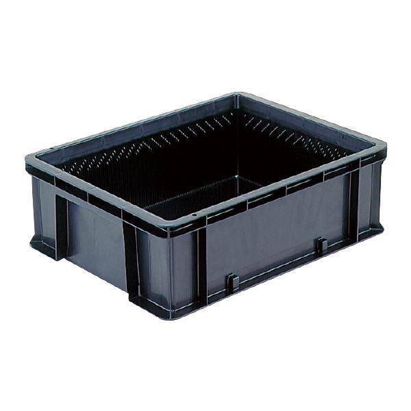 (業務用5個セット)三甲(サンコー) 導電性コンテナボックス/テンバコ 【41.9L】 段積み可 ED-42M ブラック(黒) 【代引不可】
