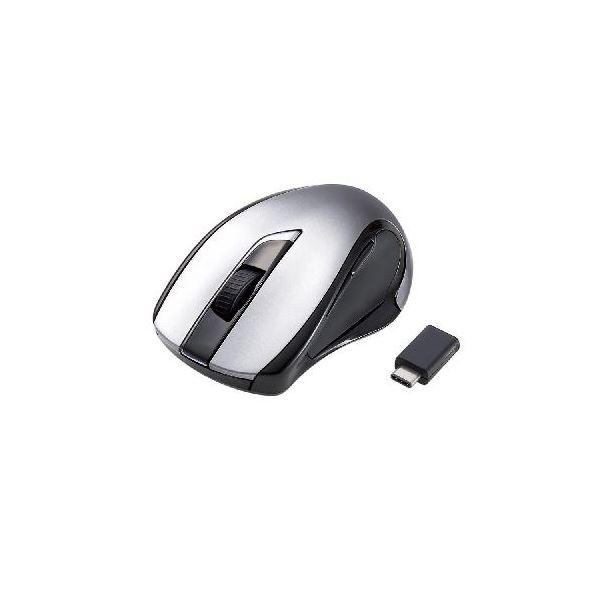 (まとめ)エレコム Type-C対応 ワイヤレス BlueLED マウス M-BL26DBCBK【×2セット】