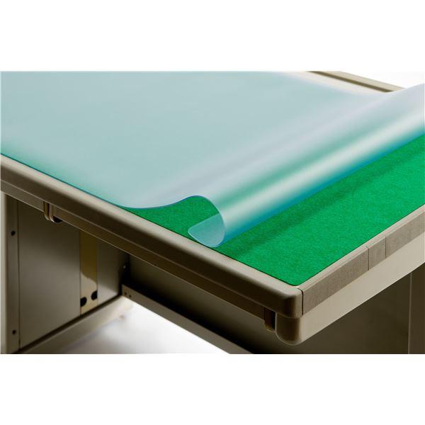 デスク (テーブル 机) マット 【再生ノンコピータイプW/1.8mm厚】 1095mm×695mm 下敷付き 片面非転写 スカイメルト RN-117W