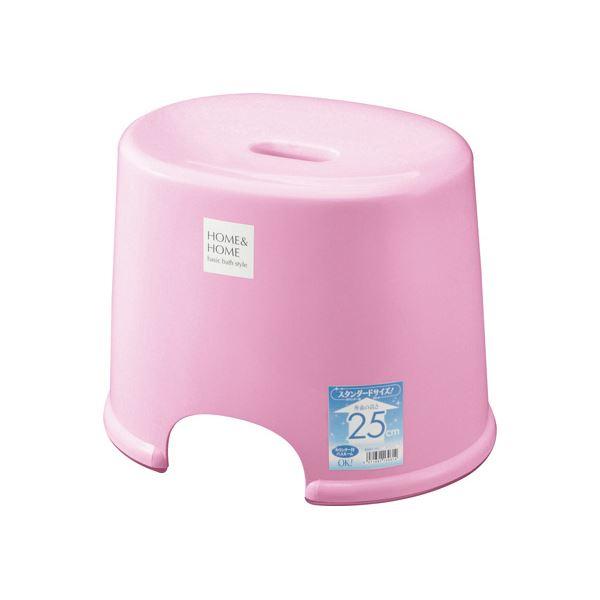 【20セット】 シンプル バスチェア/風呂椅子 【250 パステルピンク】 すべり止め付き 材質:PP 『HOME&HOME』【代引不可】