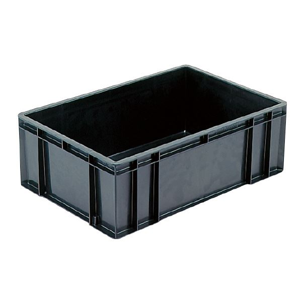 (業務用5個セット)三甲(サンコー) 導電性コンテナボックス/テンバコ 【53.7L】 段積み可 ED-55 ブラック(黒) 【代引不可】