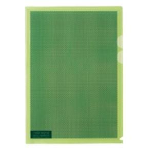【送料無料】(業務用5セット) プラス カモフラージュホルダー A4 淡緑 100冊