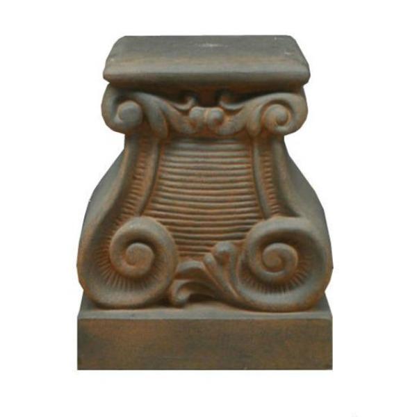 ファイバー製 軽量 植木鉢スタンド/プランタースタンド 【ラスティ 長さ38cm】 底穴なし 『バッセル用花台 プラッカーノ』