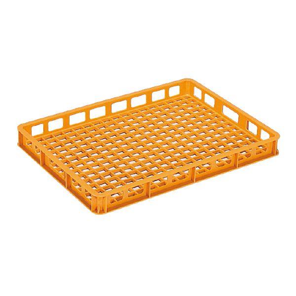 (業務用10個セット)三甲(サンコー) 麺用コンテナボックス 【加熱殺菌用】 9型 オレンジ 【代引不可】