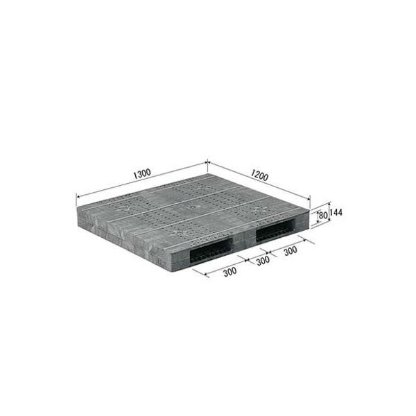 三甲(サンコー) プラスチックパレット/プラパレ 【両面使用型】 段積み可 R2-1213F グレー(灰)【代引不可】