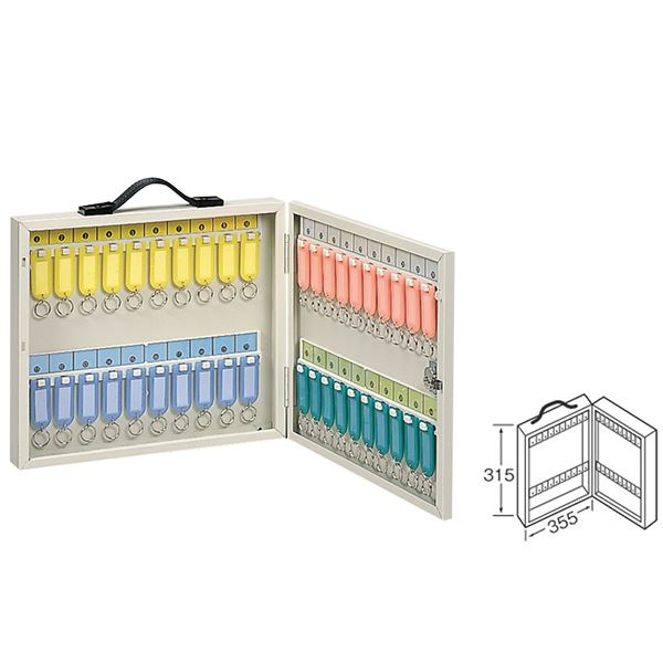 ワールドキーボックス/鍵整理 収納 箱 【携帯・壁掛け兼用型/40本掛用】 金属 スチール 製 水上金属 K-40