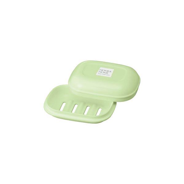 【60セット】 シンプル 石鹸箱/ シンプル 石鹸置き 【パステルグリーン】 材質:PP 『HOME&HOME』【代引不可】
