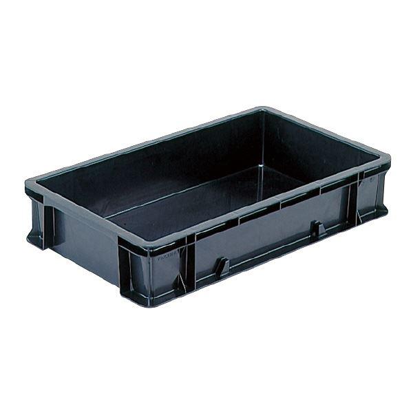(業務用10個セット)三甲(サンコー) 導電性コンテナボックス/テンバコ 【22.3L】 段積み可 ED-22A ブラック(黒) 【代引不可】