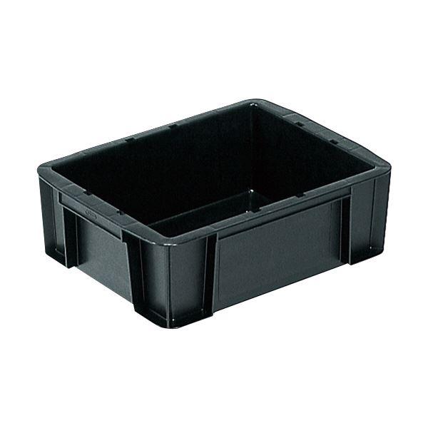 (業務用12個セット)三甲(サンコー) ベタ目コンテナボックス/サンボックス 導電性PP 9B-2 ブラック(黒) 黒