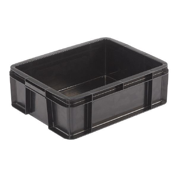 (業務用10個セット)三甲(サンコー) 導電性コンテナボックス/テンバコ 【19.7L】 段積み可 ED-21 ブラック(黒) 黒