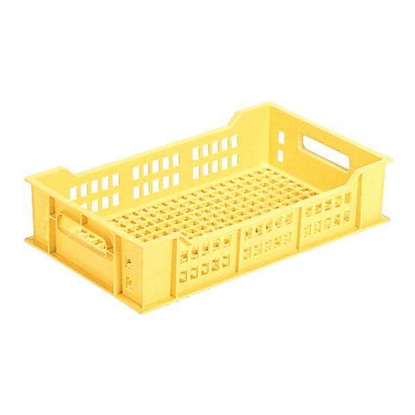 スタッキング 積み重ね タイプコンテナBOX 収納容器 みかん箱  オフィス収納  まとめ 三甲 サンコー 全面網目コンテナボックス サンテナー スタッキング可 B12T イエロー 黄 ×10セット