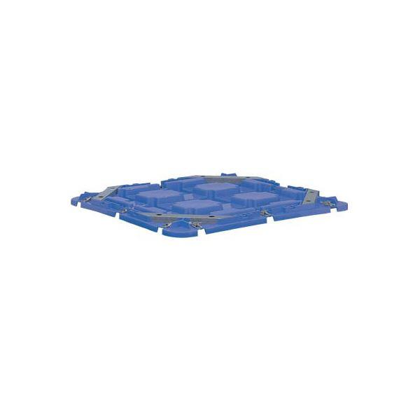 三甲(サンコー) コンテナボックス/サンバケット蓋 単品 500 ブルー(青)【代引不可】