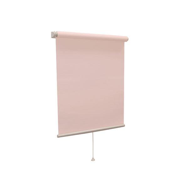 モダン ロールスクリーン 【無地ウォッシャブル 135cm×220cm ピンク】 日本製 国産 巻取りスピード調整機能付き 『ティオリオ』