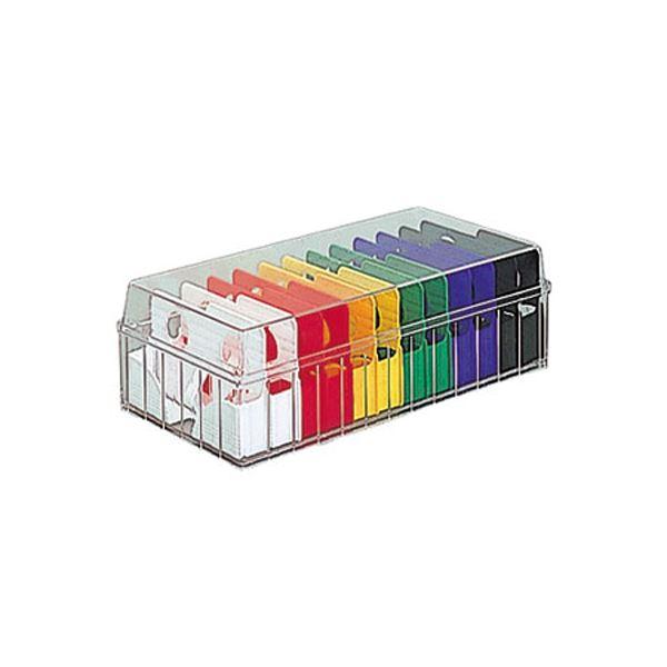(業務用セット) 名刺分庫 PHM-101CM ビビッドカラー 整理 収納 ボックス 整理 収納 用品【×10セット】