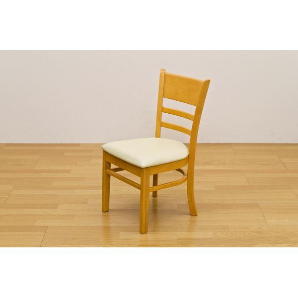 ダイニングチェア ダイニング用チェア イス 食卓 椅子 /リビングチェア リビング用 応接チェア 【2脚セット/ライトブラウン】 座面高:約43cm 張地:合成皮革(合皮 フェイクレザー ) 【完成品】 茶